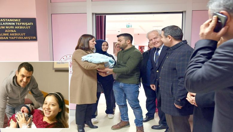 Edirne ve Tekirdağ'da yeni yılın ilk bebekleri