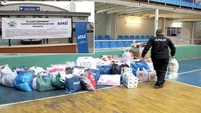 Depremzedeler için yardım toplanıyor