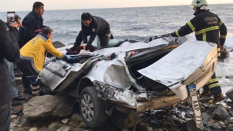 Otomobiliyle 25 metrelik uçurumdan düşen sürücü hayatını kaybetti