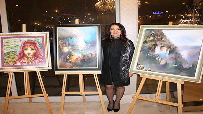 Göçmen ressam, Bursa'da, Rodoplar'ı sergiledi