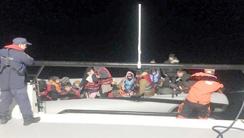Lastik botta 14'ü çocuk 33 göçmen