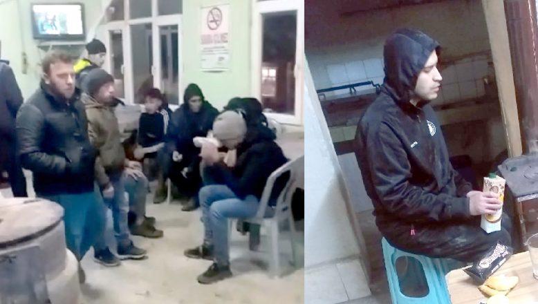 Donmak üzereyken köy kahvehanesine sığındılar