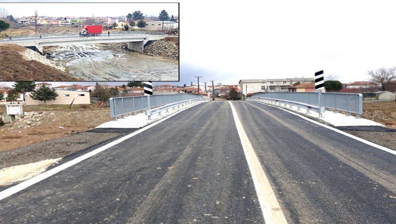 Yapımı tamamlanan köprü hizmete açıldı