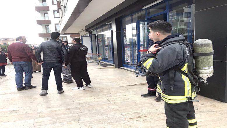 Markette çıkan yangın söndürüldü