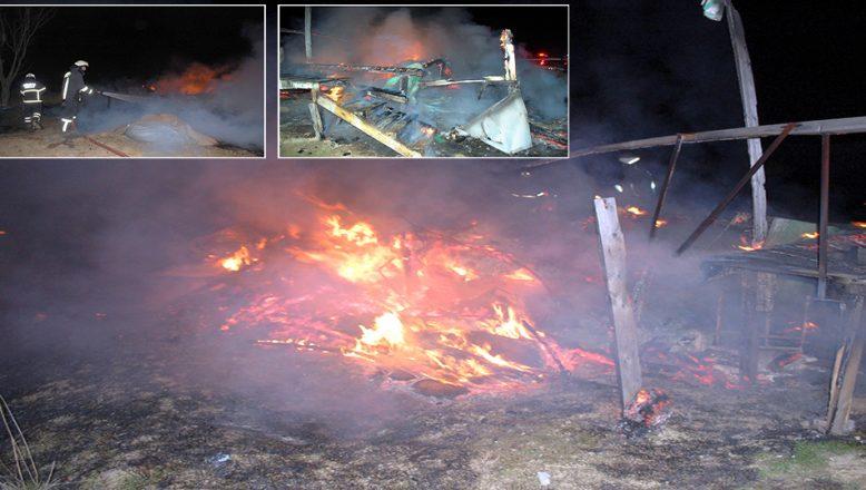 Bağ evi yandı