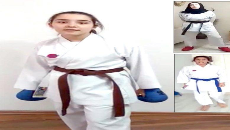 Genç karatecilerden, 'Evde Kal' çağrısı