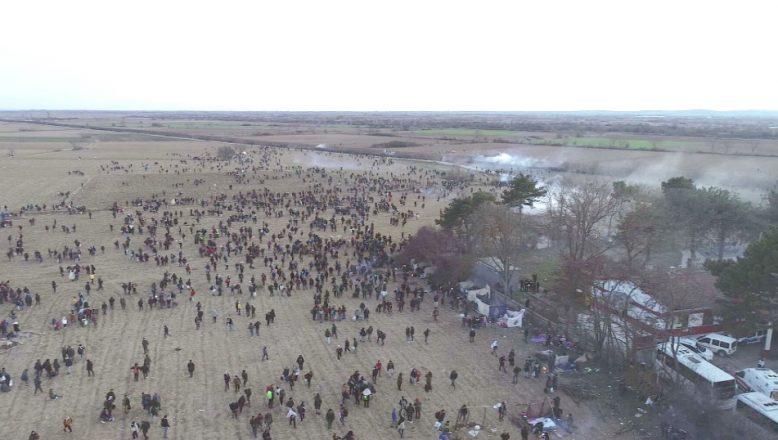 Tampon bölgedeki göçmenlere sert müdahale