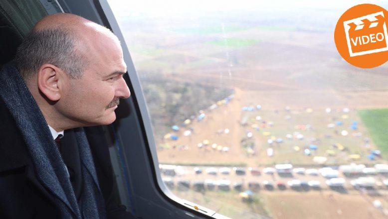 İçişleri Bakanı Soylu, sınırı havadan inceledi