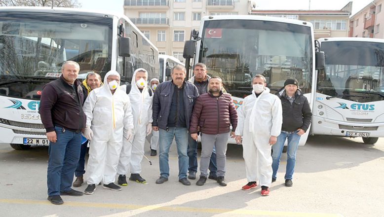 Toplu taşımaya aralıksız dezenfekte