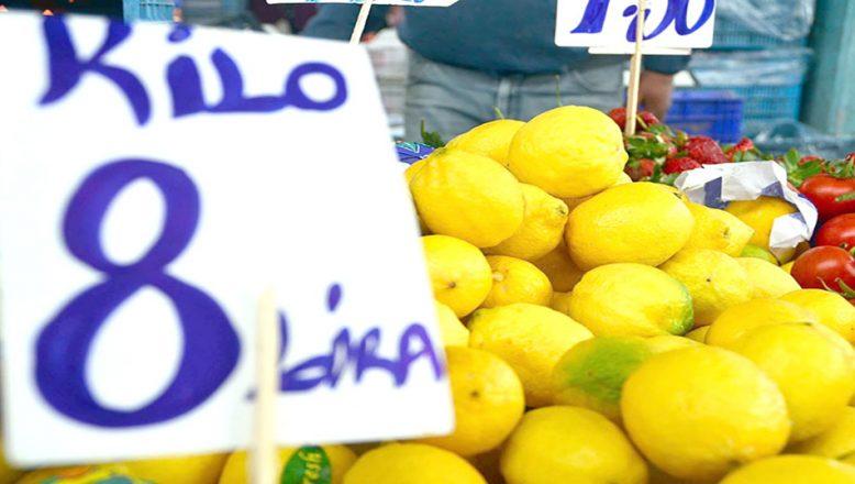 Pazarın altını limon