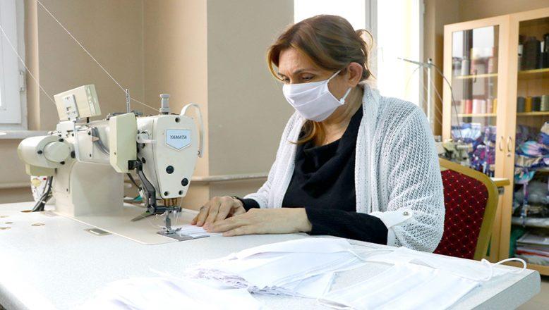 Tekirdağ'da 3 katlı yıkanabilir maske üretimine başlandı