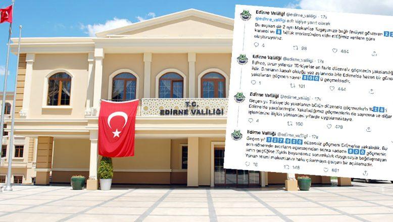 Valilik Gaytancıoğlu'na Twitter'dan yanıt verdi