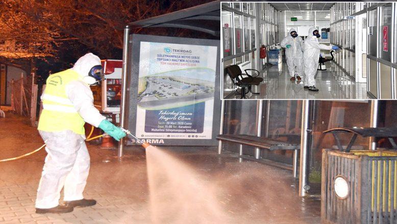 Ortak kullanım alanları dezenfekte edildi