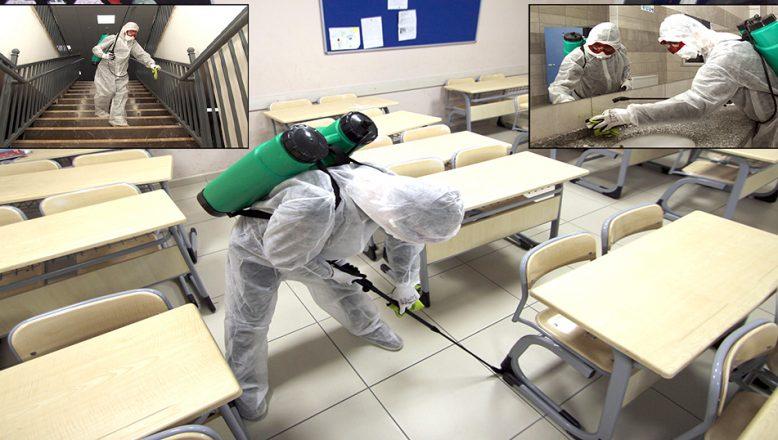 Okullar, öğrencilerin ürettiği temizlik malzemeleriyle dezenfekte ediliyor