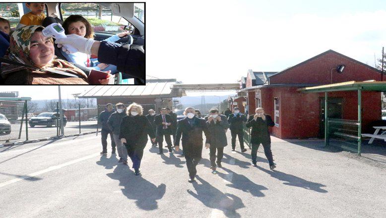 Dereköy Sınır Kapısı'nda, koronavirüse karşı tedbir alındı