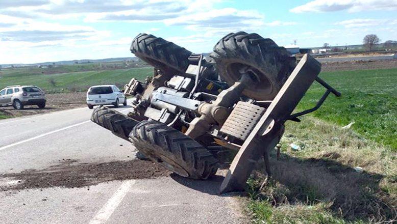 Traktörle, TIR'ın çarpışması sonucu bir kişi öldü