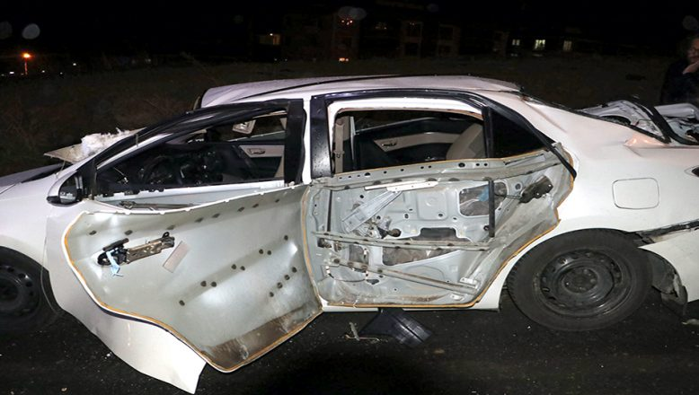LPG'li otomobilde yaşanan patlama nedeniyle iki kişi yaralandı