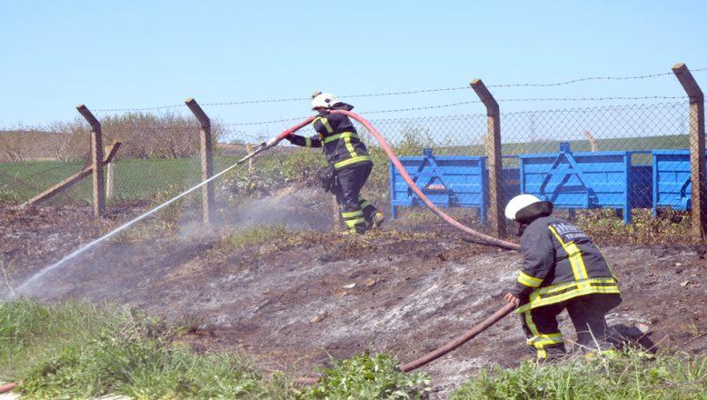 Otluk alandaki yangın söndürüldü