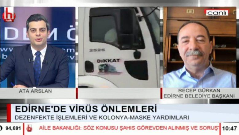 Gürkan Halk TV'de korona virüs tedbirlerini anlattı