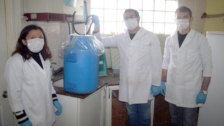 Keşan'da dezenfektan üretimi için saf su hazırlanıyor