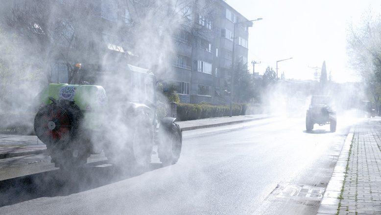 Edirne kent merkezi sık sık dezenfekte ediliyor