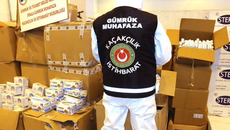Fransa'ya giden TIR'da binlerce tıbbi ürün ele geçirildi