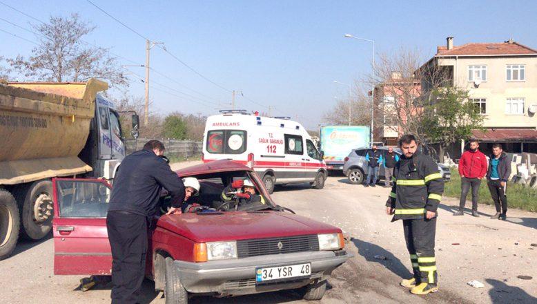 Trafik kazası: 2 yaralı