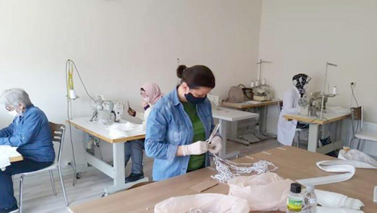 Enez'de 4 bin maske üretildi