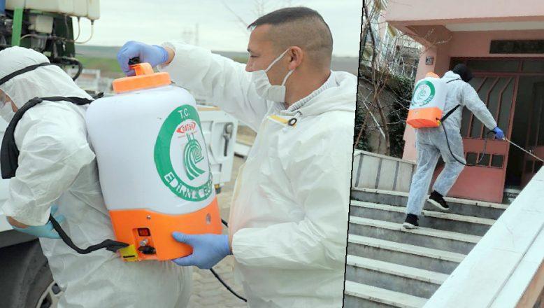 Apartmanlar ücretsiz dezenfekte ediliyor