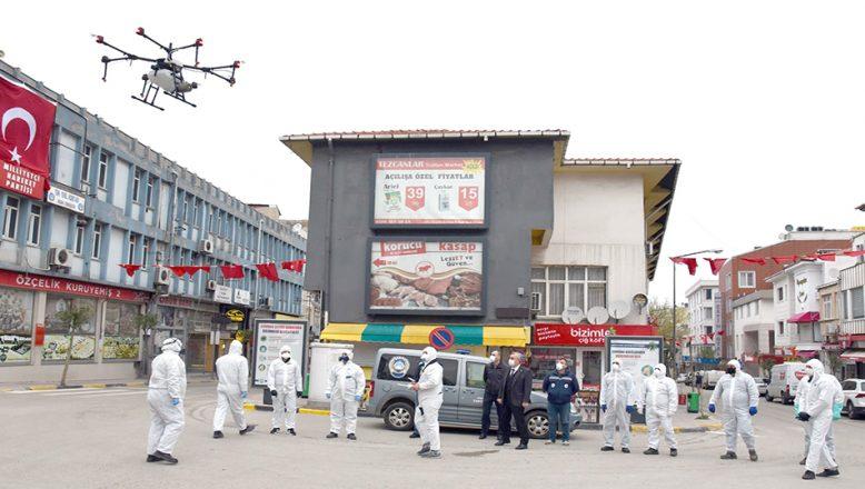 Drone ile koronavirüs mücadelesi