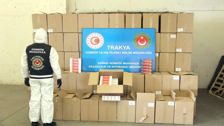 Kapıkule'de TIR'da yakalandı… Tam 3 milyon 270 bin adet