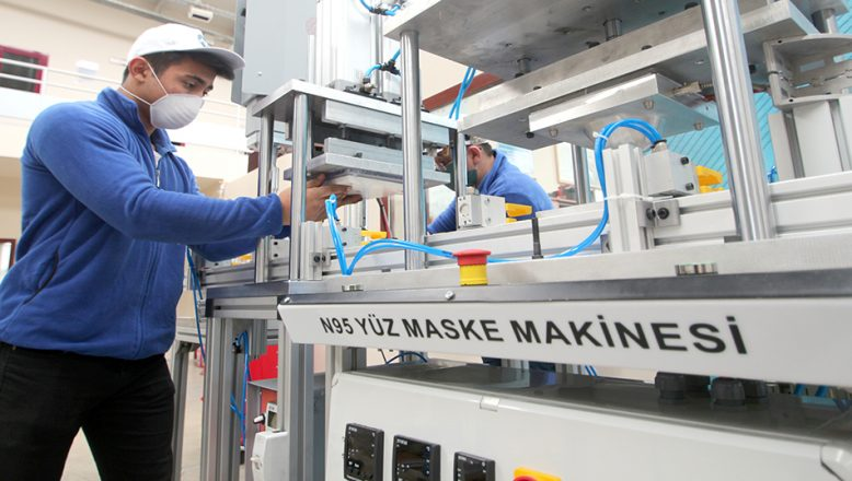 Saatte 600 N-95 maske üretilebilecek