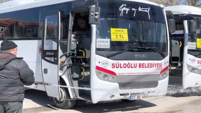 Süloğlu ilçesinde toplu ulaşım durduruldu