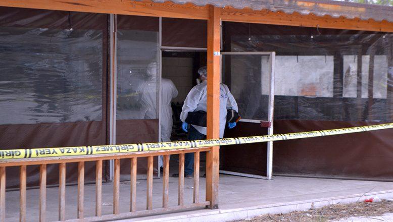 Eski kafe binasında, ceset bulundu