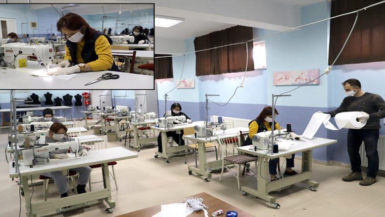 KLÜ'den, sağlık çalışanları için tek kullanımlık maske üretimi