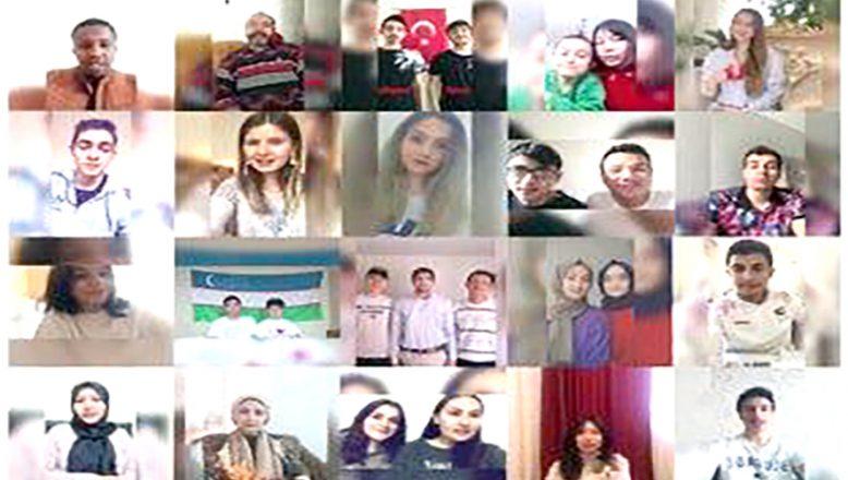Uluslararası öğrencilerden, 'Evde Kal' çağrısı
