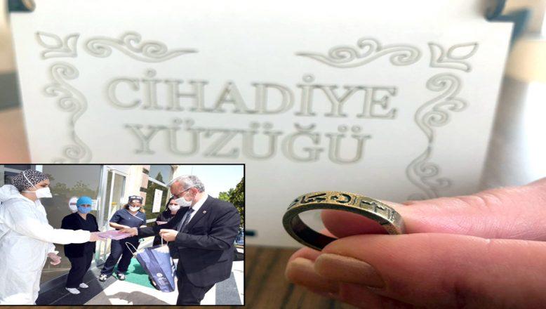 Hemşirelere, Cihadiye Yüzüğü hediye etti