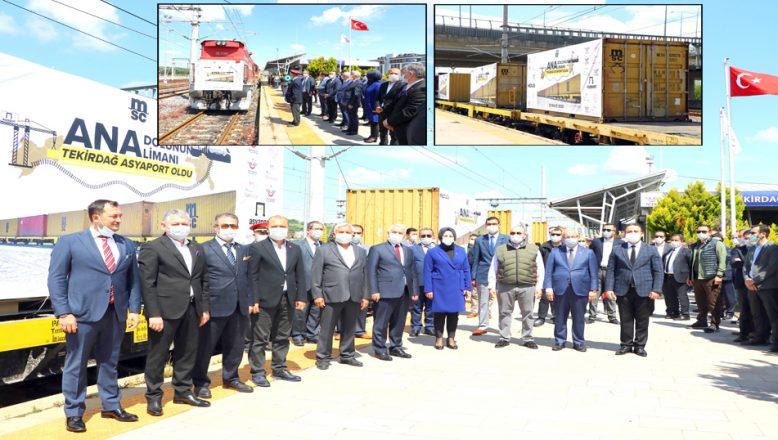 Marmaray'dan geçen yurt içi yük treni, Tekirdağ'a ulaştı