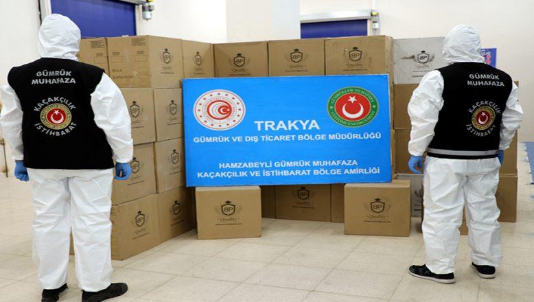 TIR'da milyonlarca makaron yakalandı