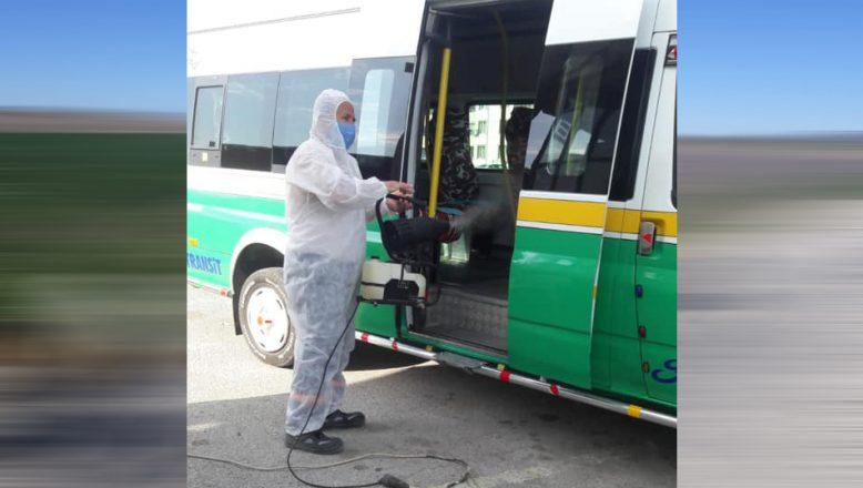 Toplu ulaşım araçları düzenli olarak dezenfekte ediliyor