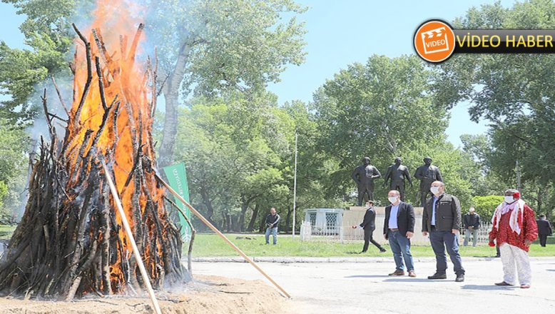 Kakava ateşi sembolik yandı