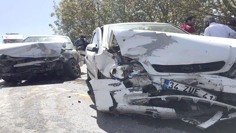 İstanbul-Çerkezköy yolunda kaza; 4 yaralı