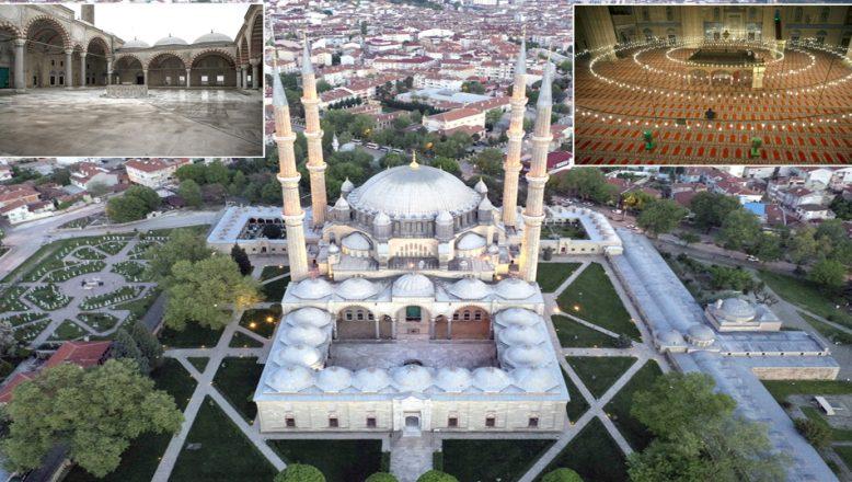 Mimar Sinan'ın, ustalık eseri Selimiye'de, koronavirüs sakinliği