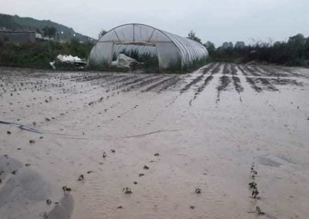 Kosova da, Mamuşa'yı önce dolu, sonra yağmur vurdu
