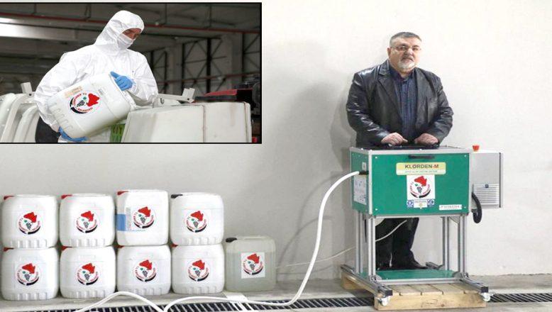 Günde 200 litre, dezenfektan üretiyor