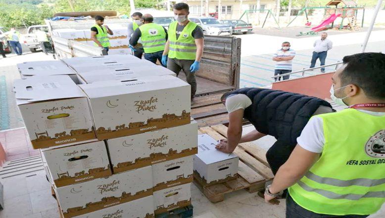 İhtiyaç sahiplerine, gıda yardımı yapıldı