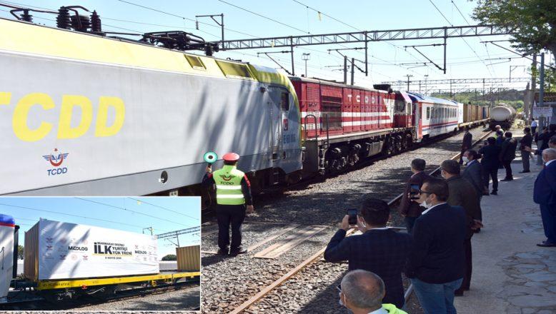 Marmaray'dan geçen ilk yurt içi treni, Tekirdağ'a ulaştı