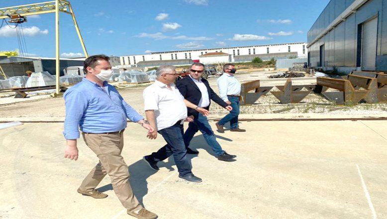 Su baskınlarında zarar gören fabrikalara ziyaret
