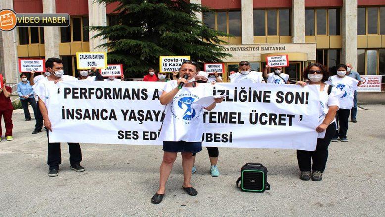 SES, Edirne'den 'ek ödeme' eylemi