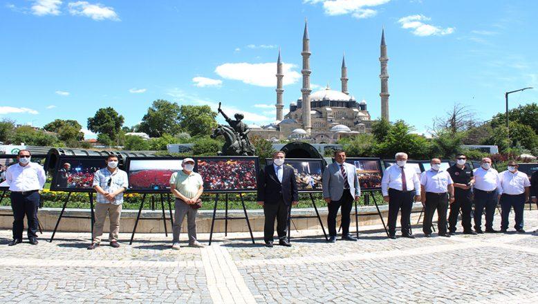 Selimiye Meydanında 15 Temmuz sergisi açıldı